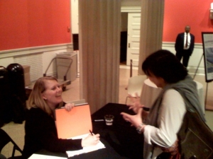 Paige West signing my book