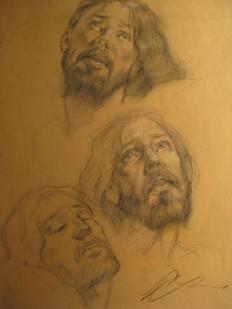 Crucifix Study by Robert Liberace