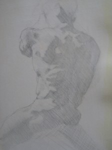 Silverpoint Torso Study