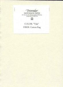 Twinrocker Yale Paper
