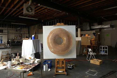 "Krispy Kreme by Duane Keiser, 60x60"" Oil"