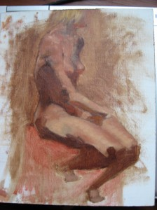Seated Nude Female, Day 3