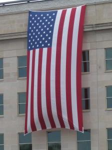 Draped Flag on the Pentagon