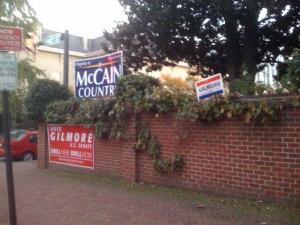 Gilmore and McCain Palin Sign