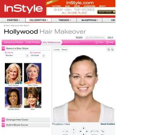 InStyle Magazine online style selector