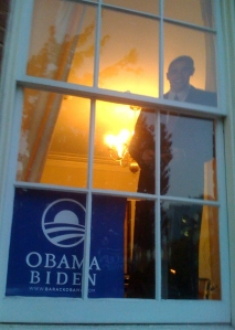 Obama at the Window