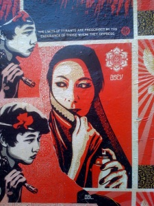 Obey Poster Wall (segment/fragment)