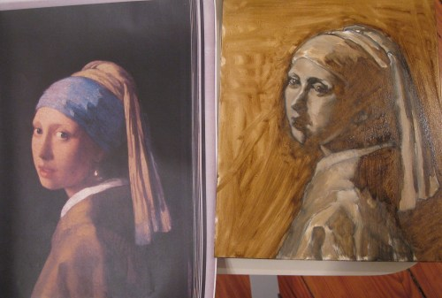 After Vermeer, Grisaille (comparison)