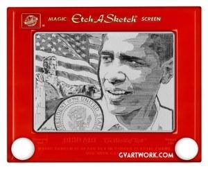 Obama Etch Detail