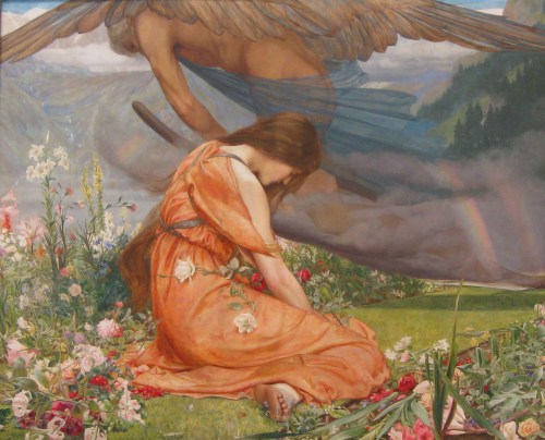 The Garden of Adonis - Amoretta and Time, by John Dickson Batten