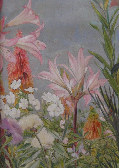 Detail of Flowers along the Edge of the Painting