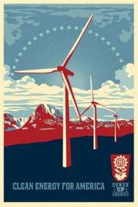 Power Up Windmill, by Shepard Fairey