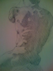 Back Study, silverpoint