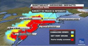 Predicted Required Response to Landfall by Hurricane Irene